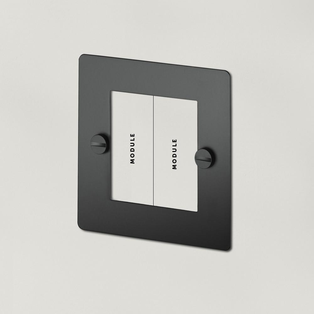 1G EURO PLATE - 2 MOD / BLACK
