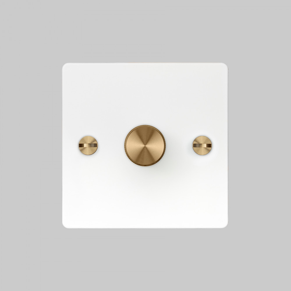 1G DIMMER / WHITE / BRASS