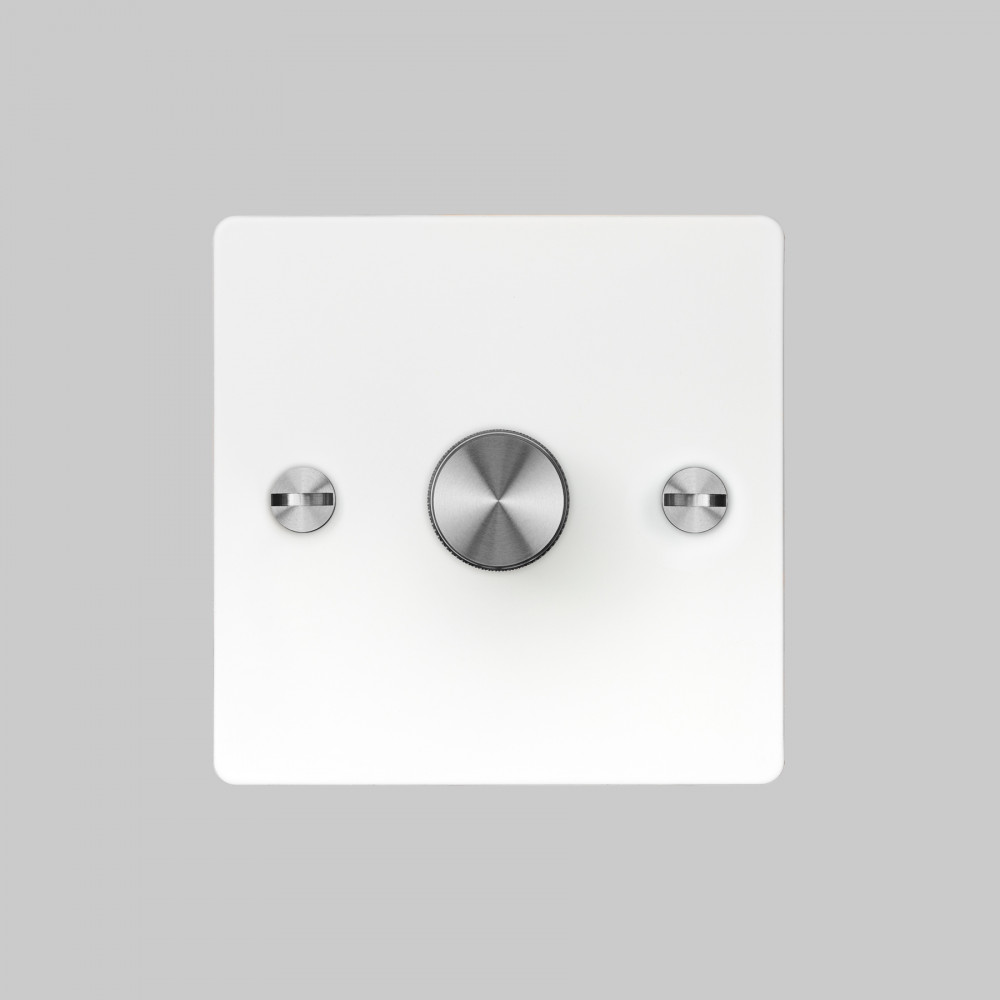 1G DIMMER / WHITE / STEEL