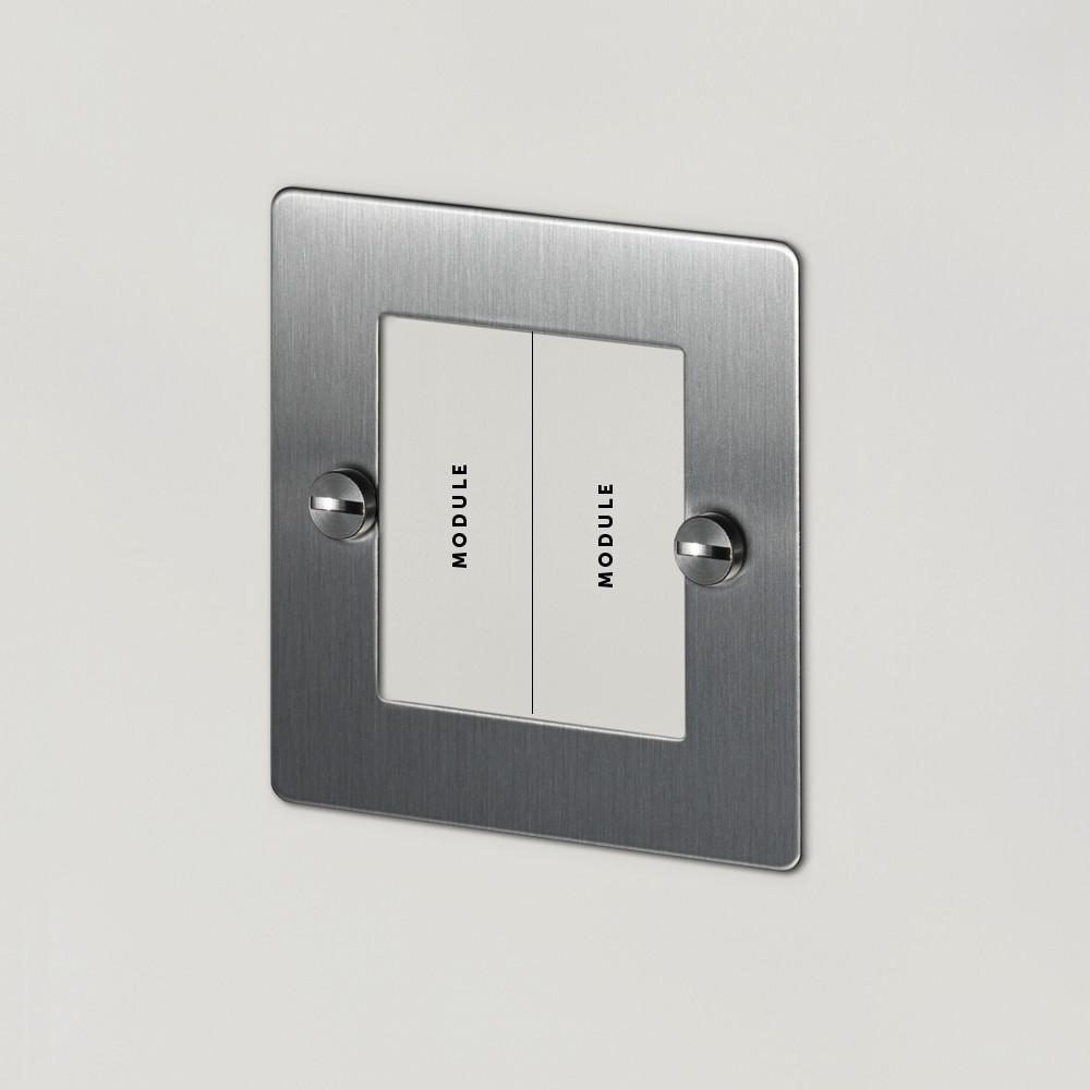 1G EURO PLATE - 2 MOD / STEEL