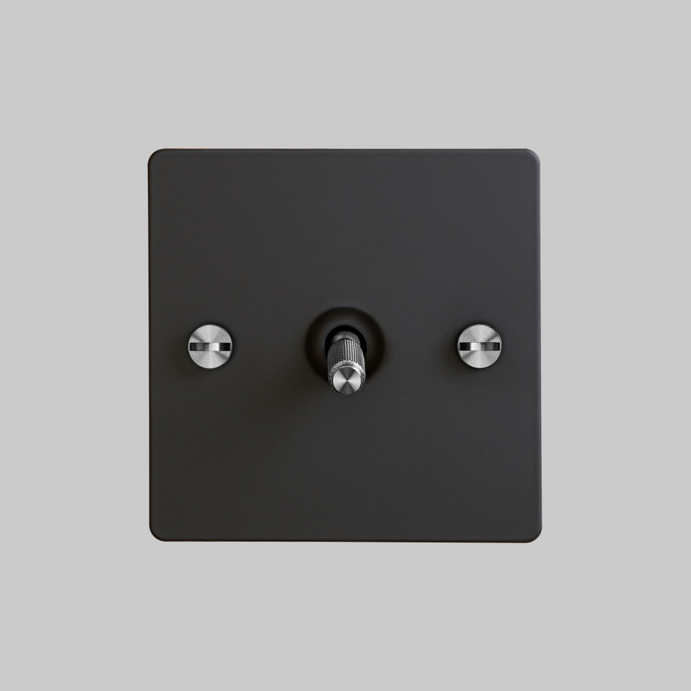 1G TOGGLE SWITCH / BLACK / STEEL