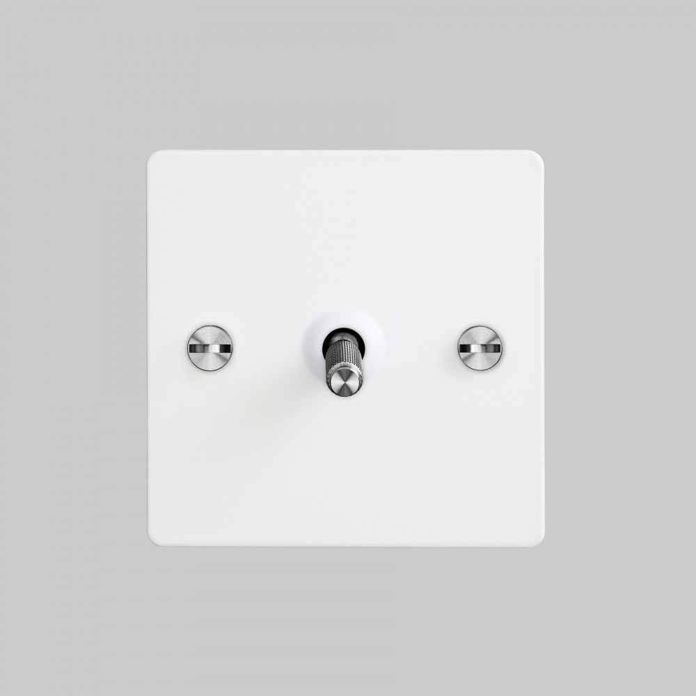 1G TOGGLE SWITCH / WHITE / STEEL