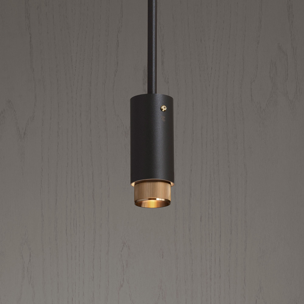 EXHAUST PENDANT / GRAPHITE / BRASS