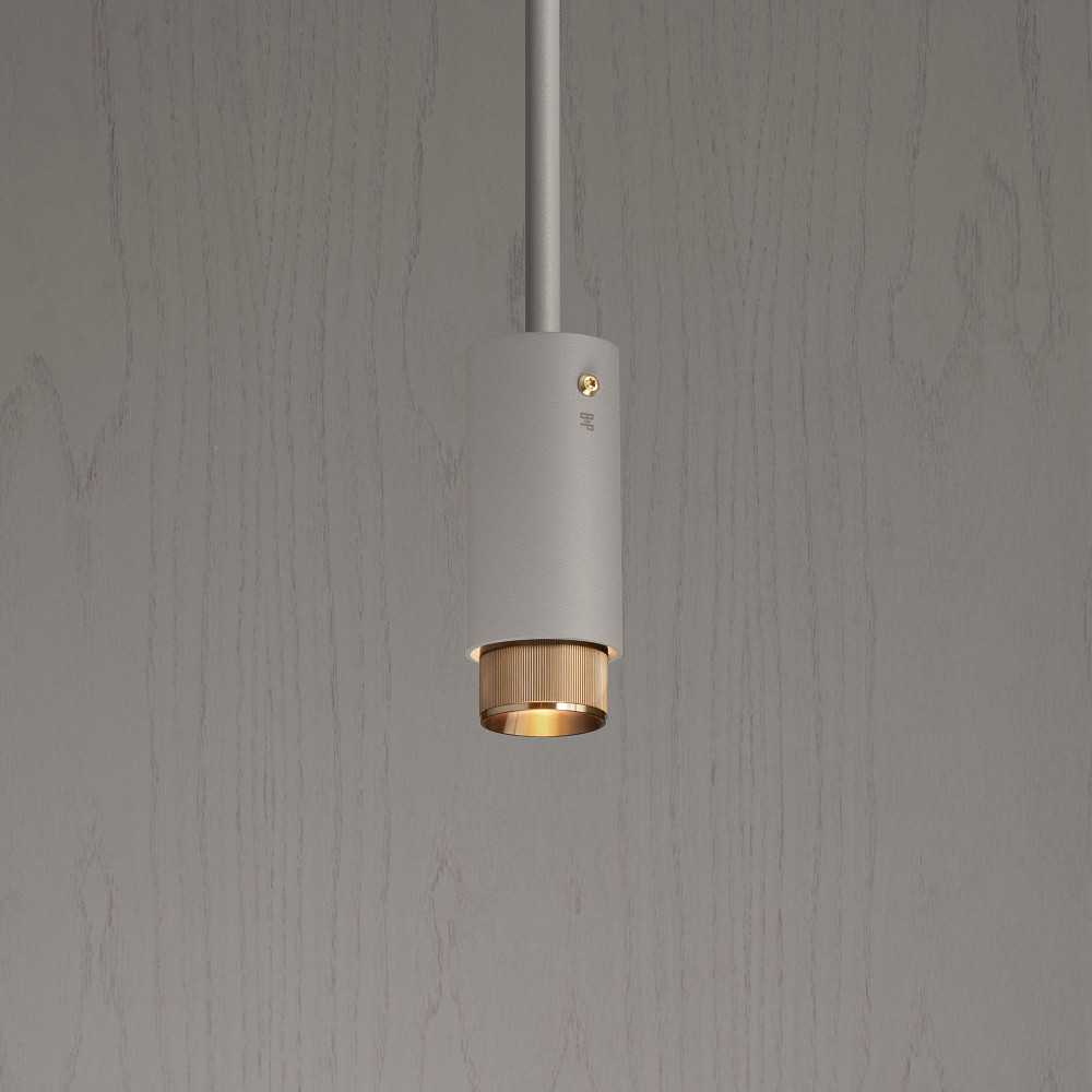 EXHAUST PENDANT / STONE / BRASS
