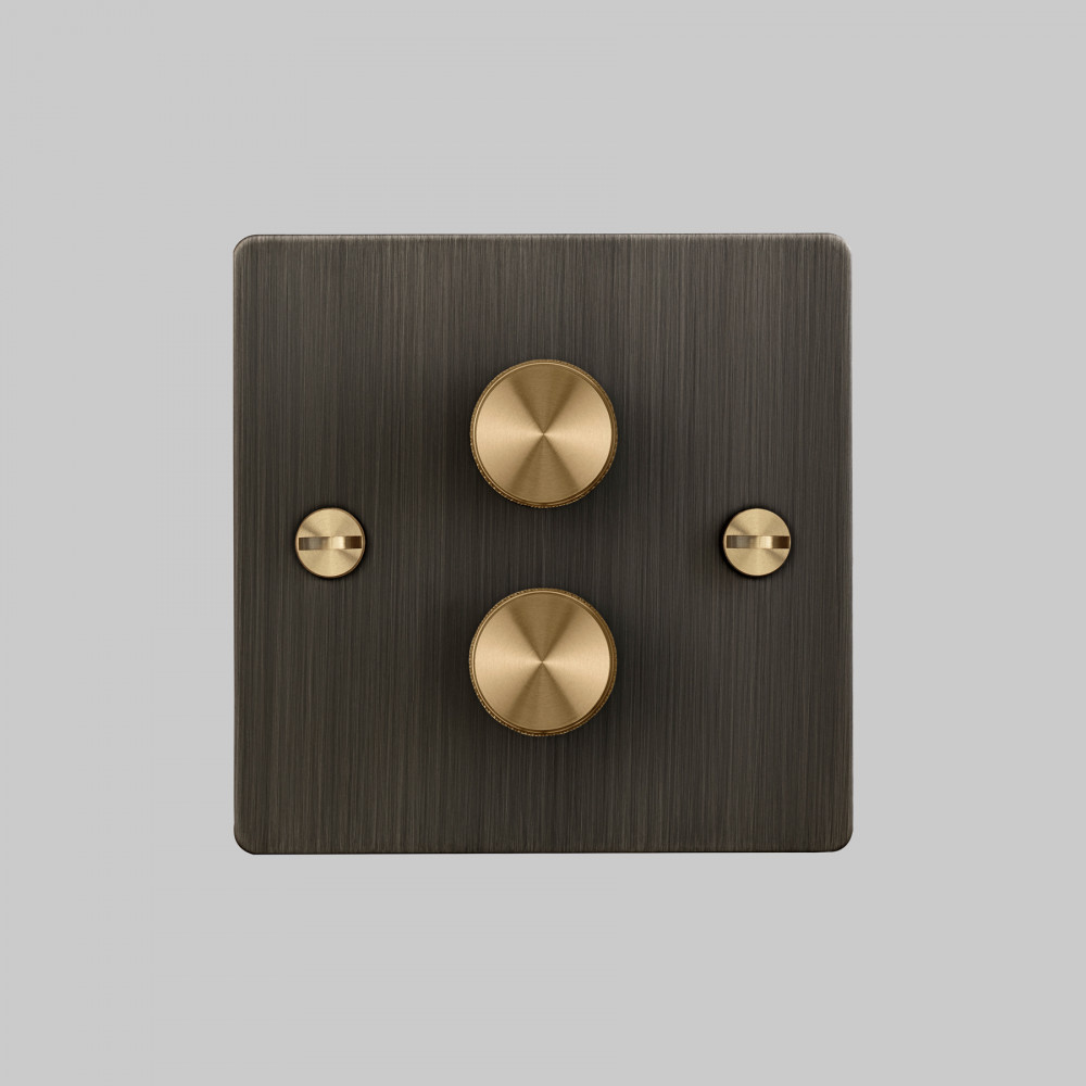 2G DIMMER / SMOKED BRONZE / BRASS
