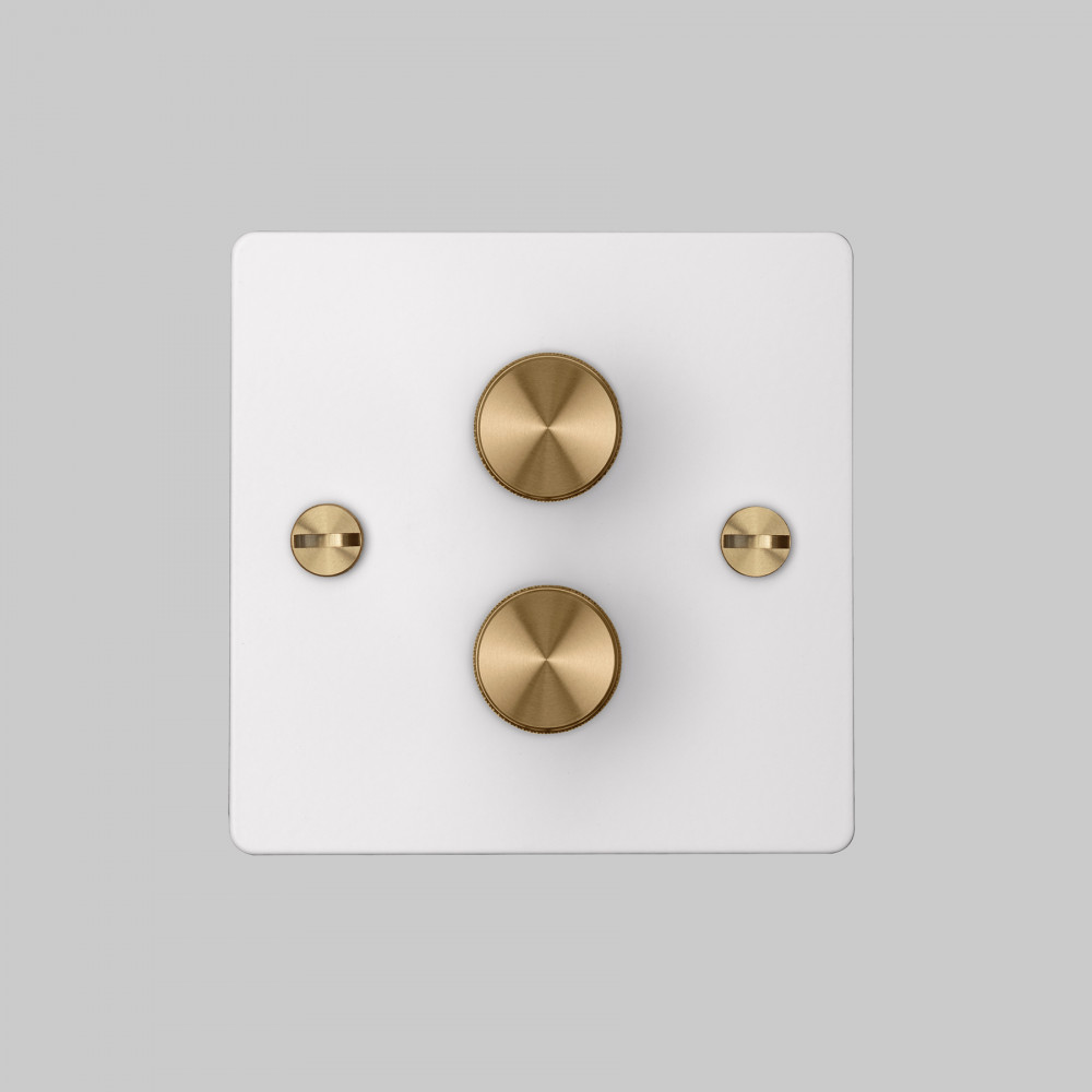 2G DIMMER / WHITE / BRASS