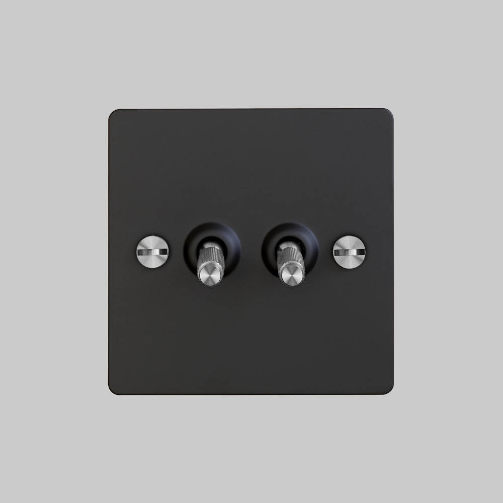 2G TOGGLE SWITCH / BLACK / STEEL