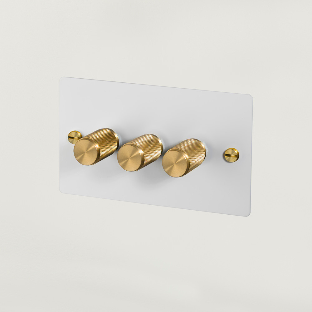 3G DIMMER / WHITE / BRASS