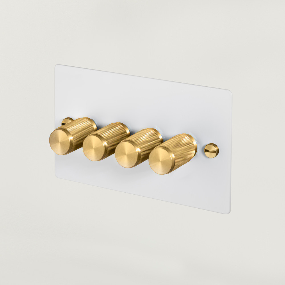 4G DIMMER / WHITE / BRASS
