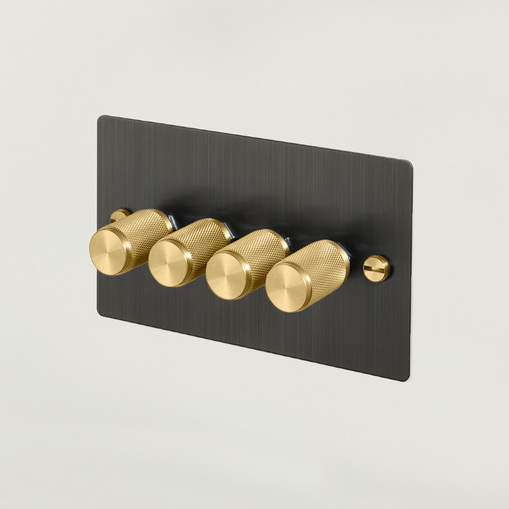 4G DIMMER / SMOKED BRONZE / BRASS