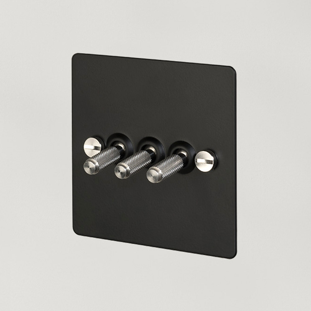 3G TOGGLE SWITCH / BLACK / STEEL