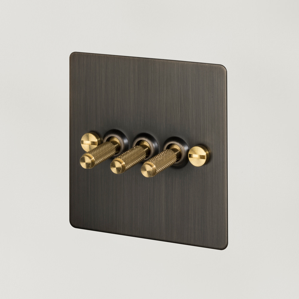 3G TOGGLE SWITCH / SMOKED BRONZE / BRASS
