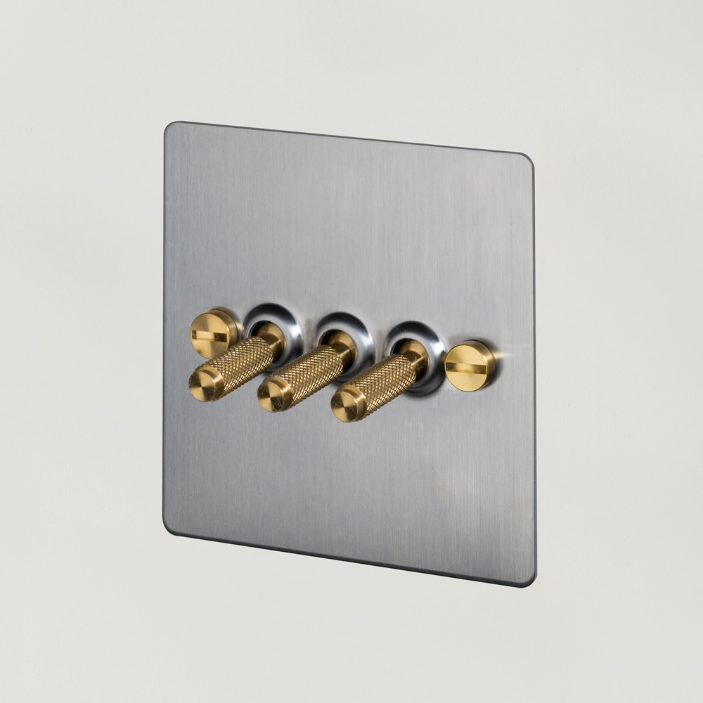 3G TOGGLE SWITCH / STEEL / BRASS