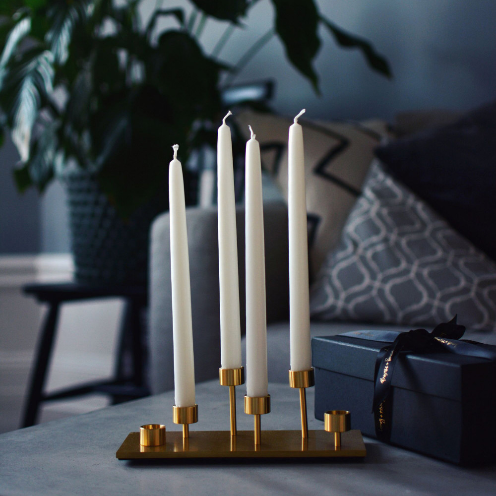 MACHINED / CANDELABRA / BRASS
