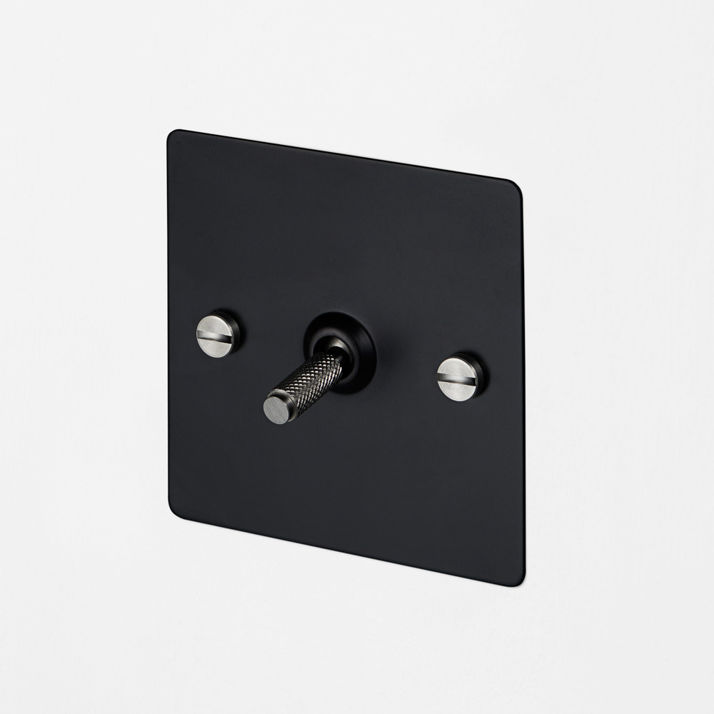 1G INTERMEDIATE TOGGLE SWITCH / BLACK / STEEL