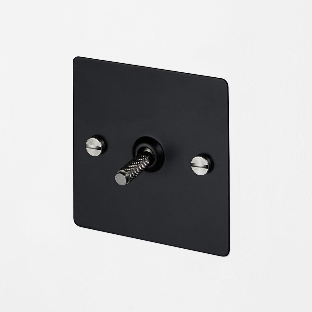 1G INTERMEDIATE TOGGLE SWITCH / BLACK / STEEL