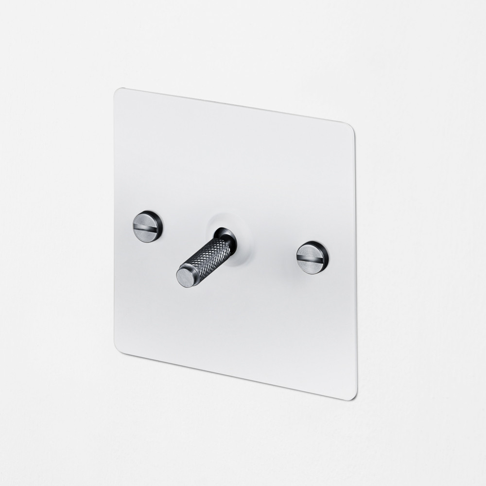 1G INTERMEDIATE TOGGLE SWITCH / WHITE / STEEL