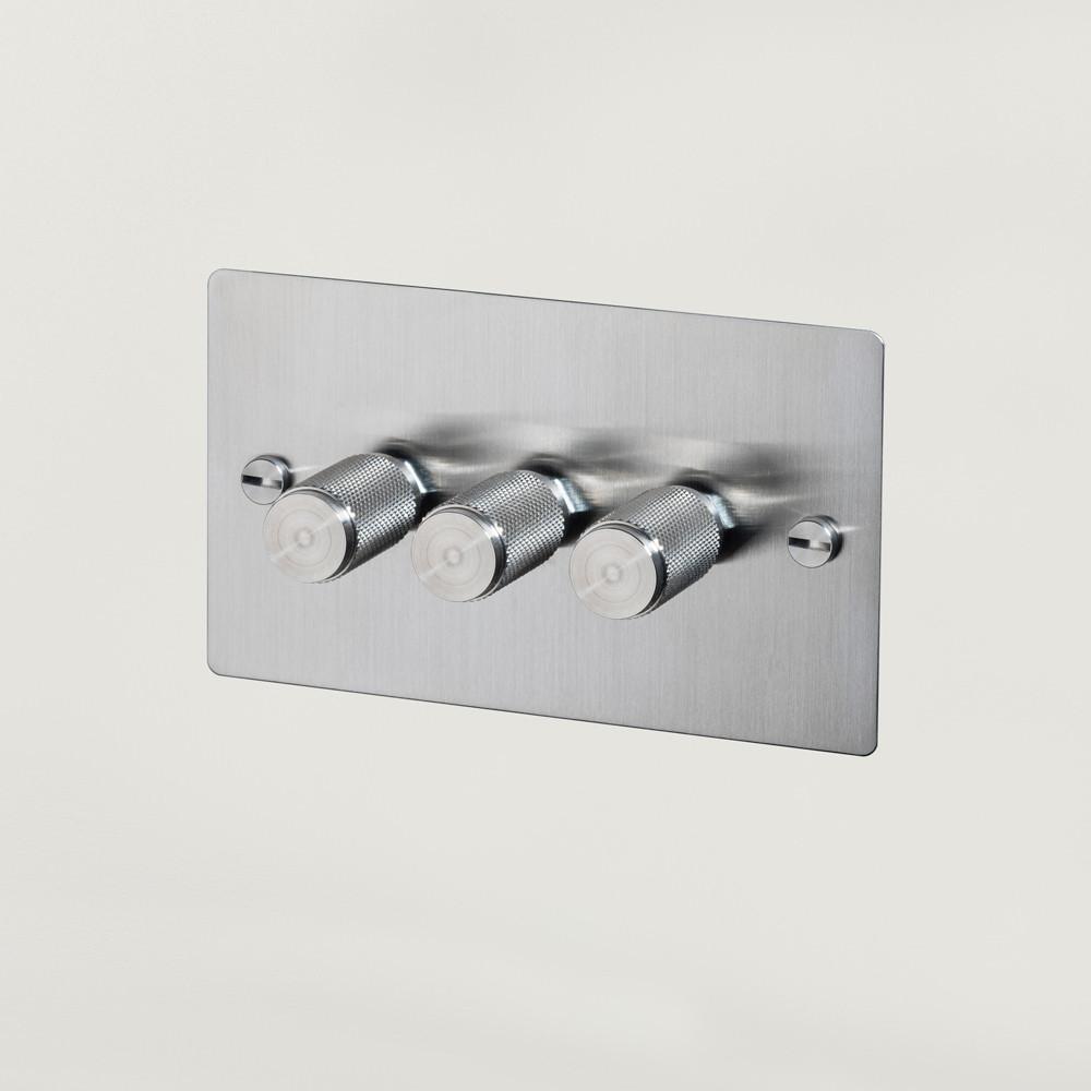 Wattstopper Universal Dimmer: 3G DIMMER / STEEL