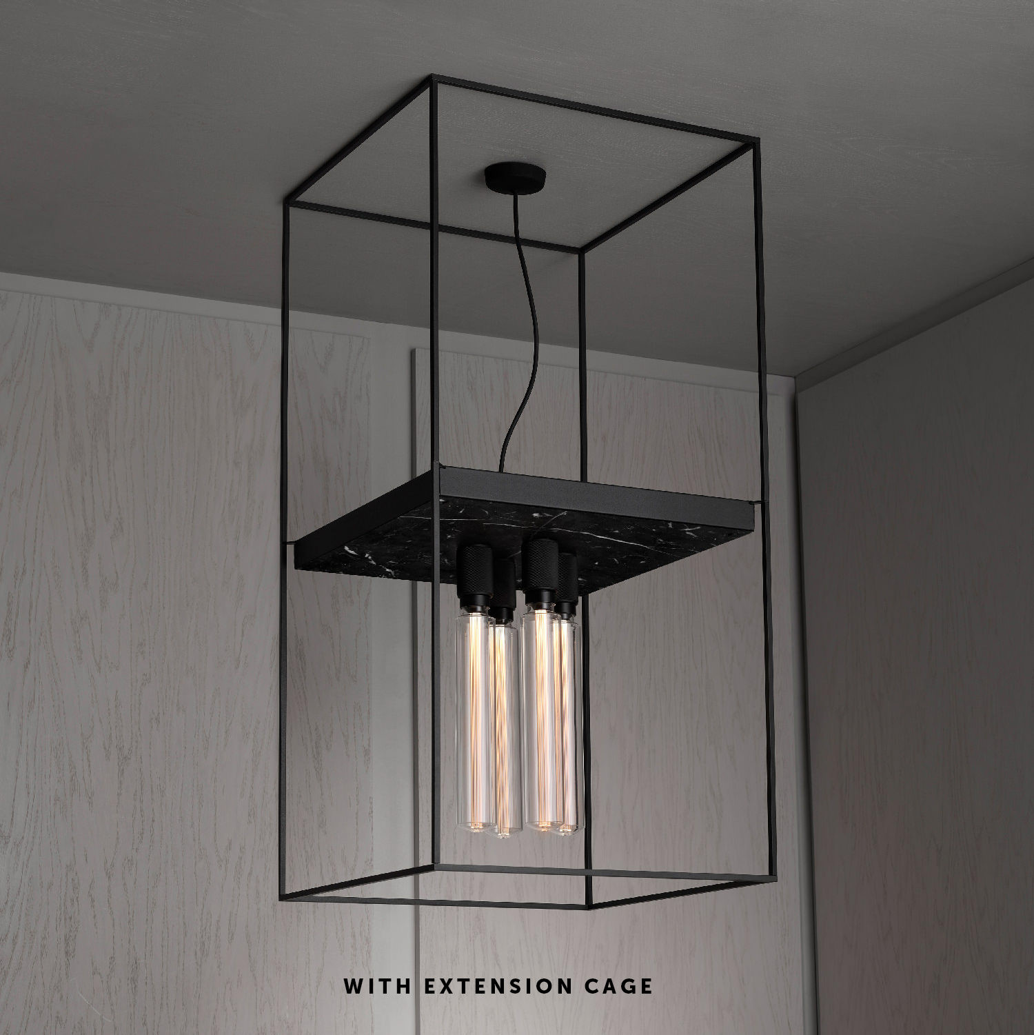 CAGED CEILING 4.0 / SATIN BLACK MARBLE