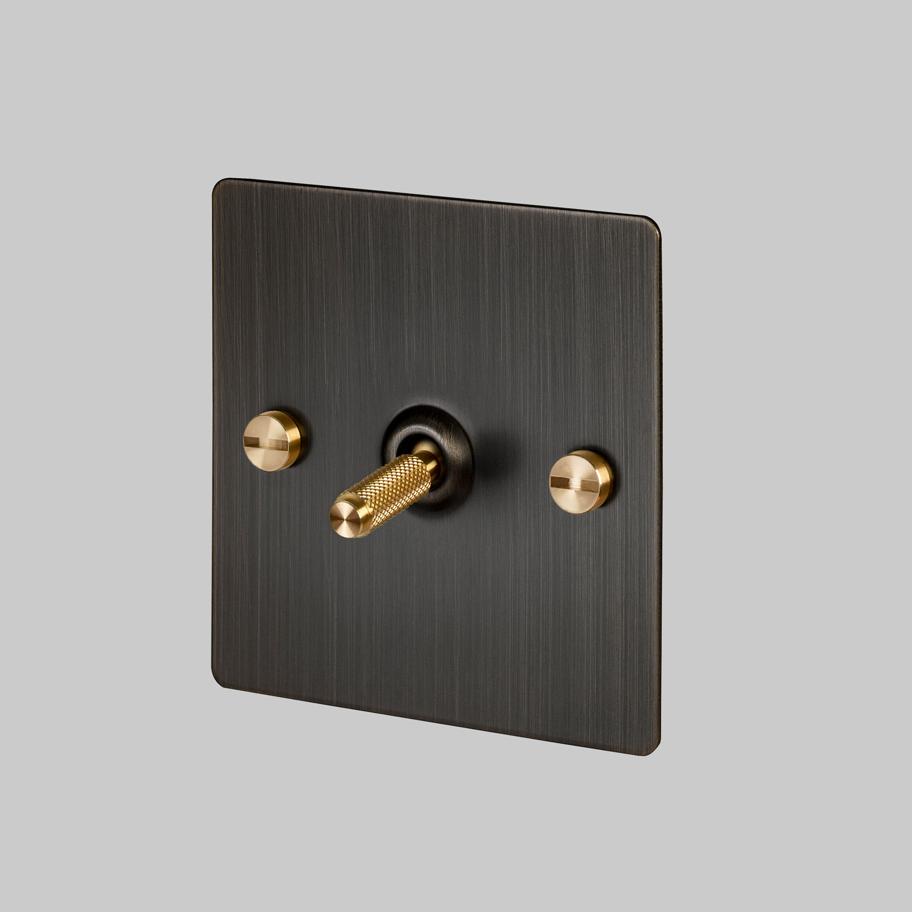 1G TOGGLE SWITCH / SMOKED BRONZE / BRASS