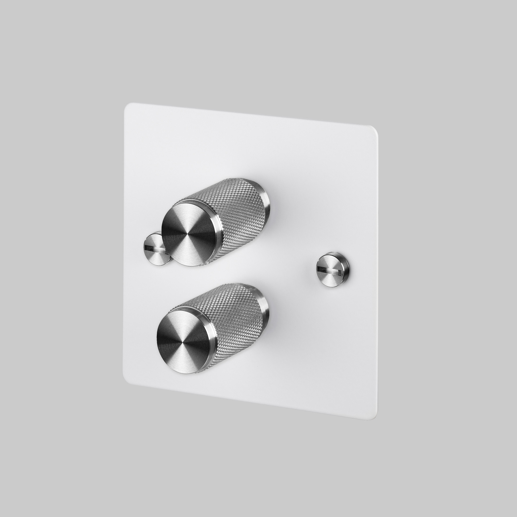 2G DIMMER / WHITE / STEEL