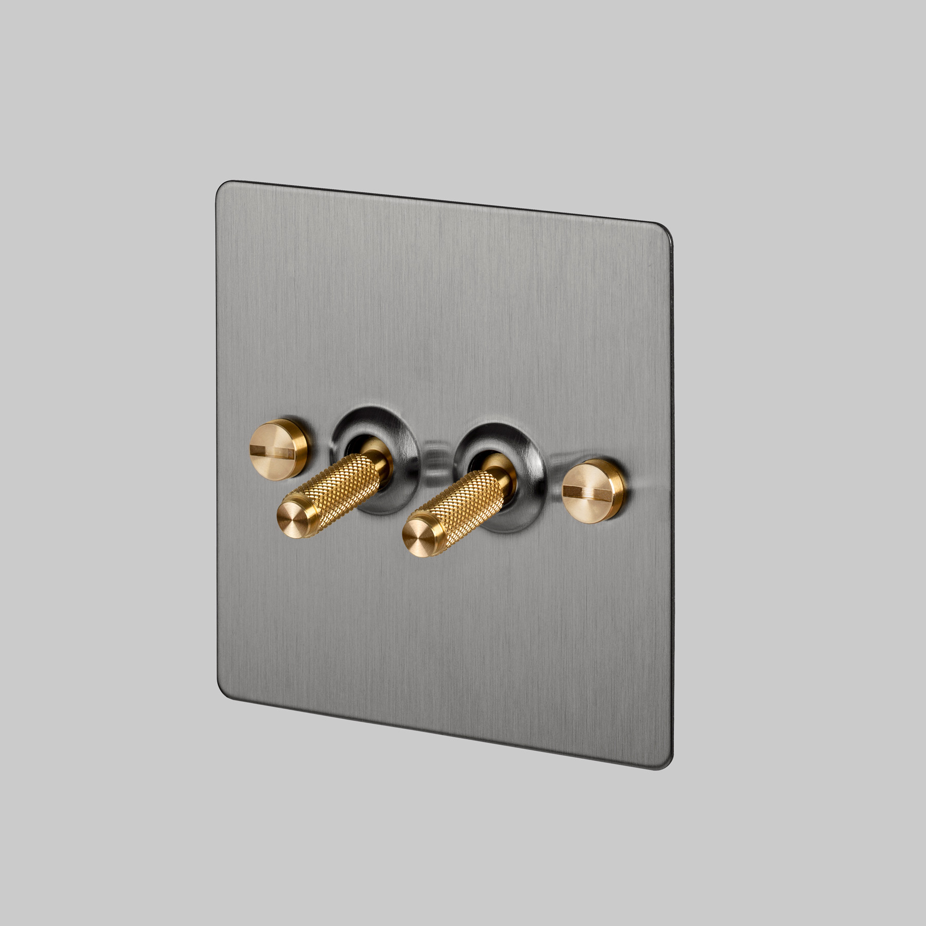2G TOGGLE SWITCH / STEEL / BRASS