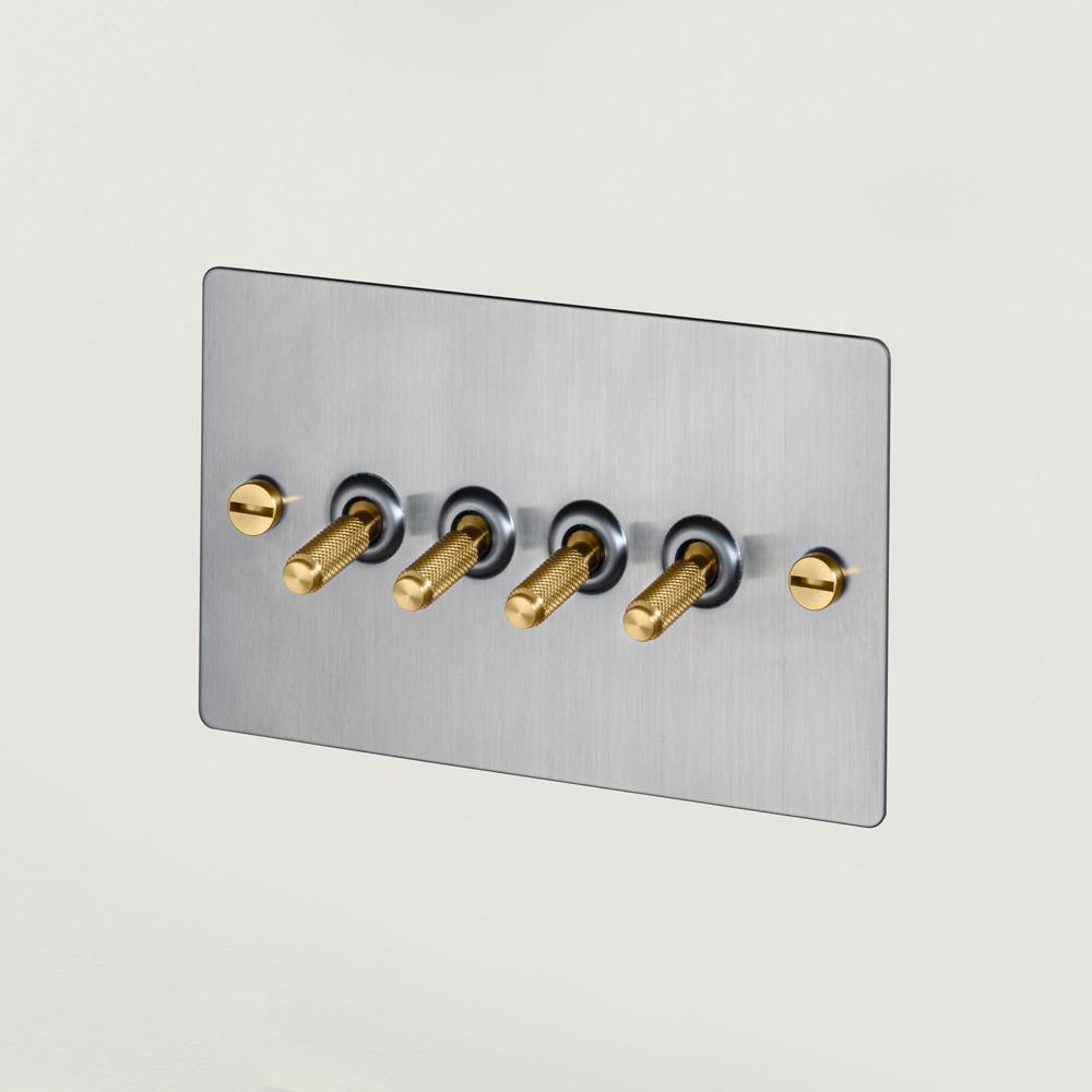 4G TOGGLE SWITCH / STEEL / BRASS