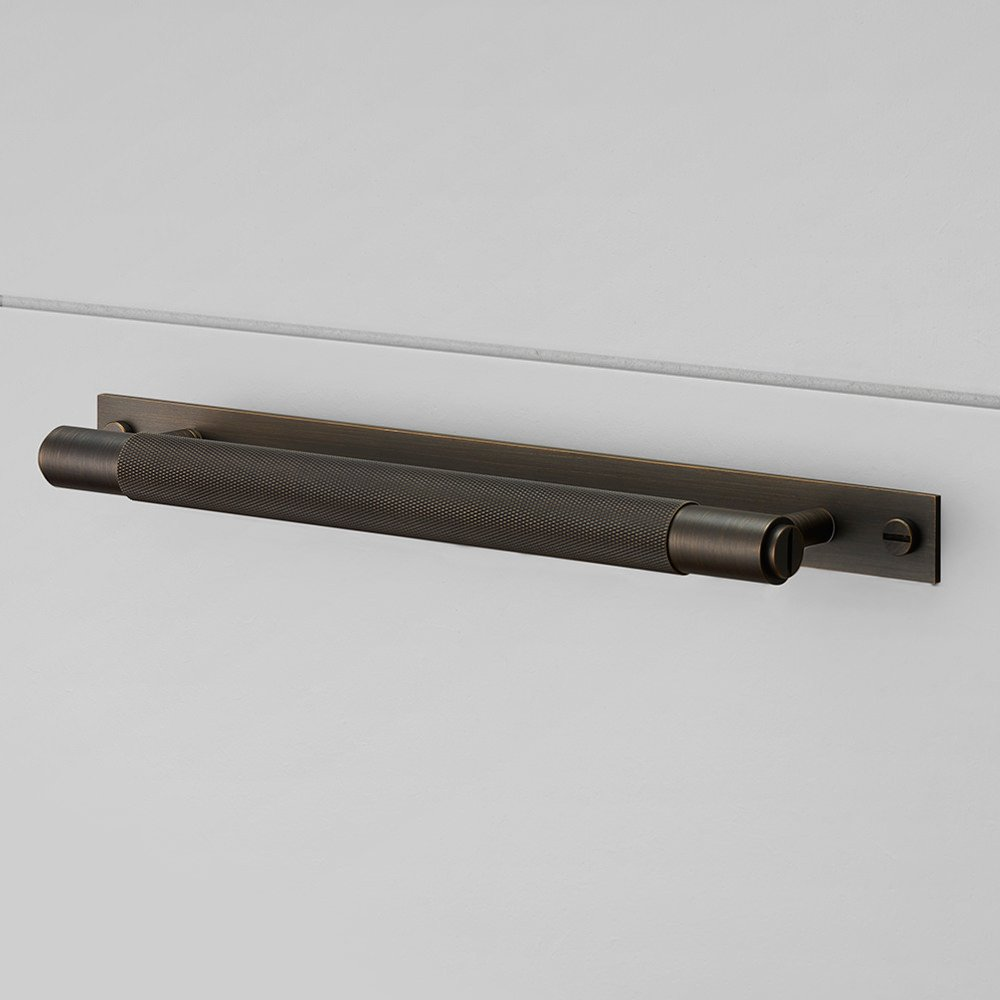 Buster & Punch / Pull bar kitchen pull handle hardware made from solid metal smoked bronze