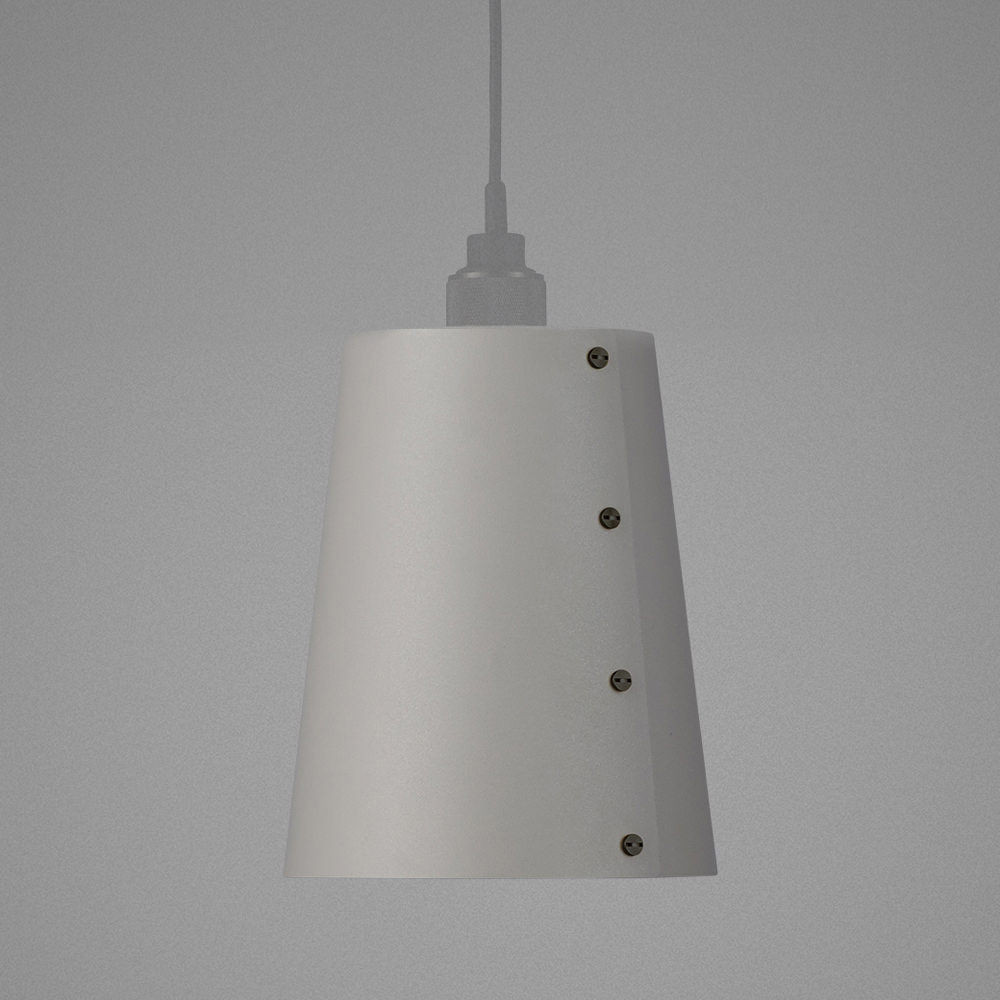 Light shade in STONE / Hooked ceiling pendant / solid metal
