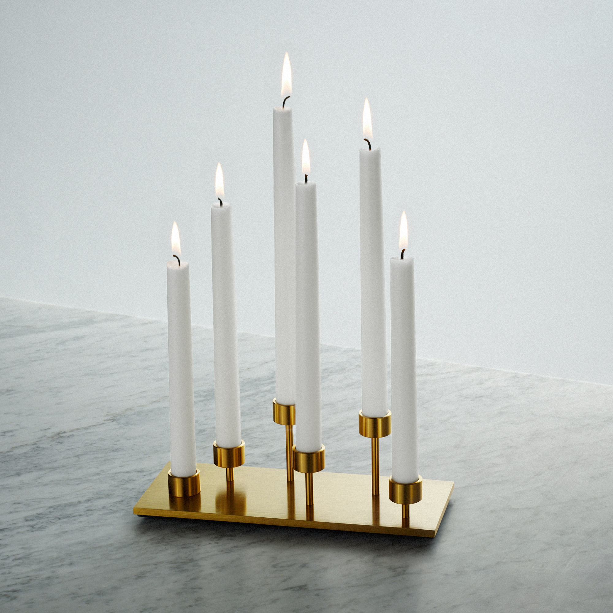 Buster + Punch / Candelabra candle holder made in solid brass / interior design details / perfect gift