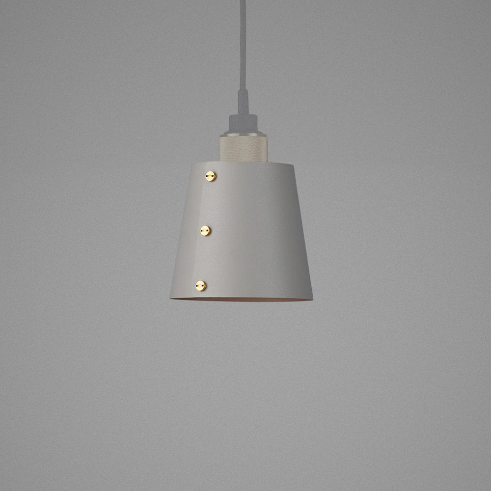 Light SHADE stone / Hooked ceiling pendant / solid metal