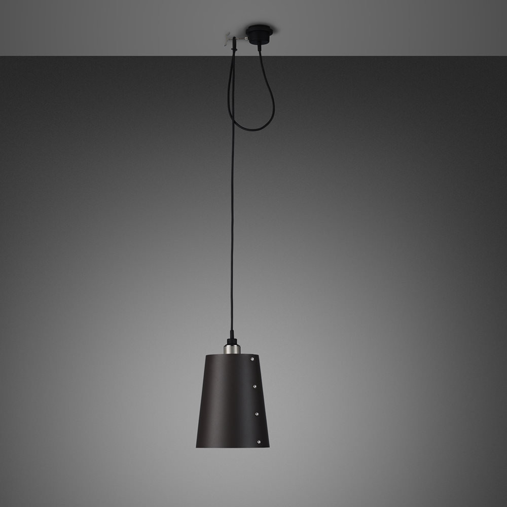 Buster + Punch / Hooked / E27 Light pendant with Large shade in graphite metal
