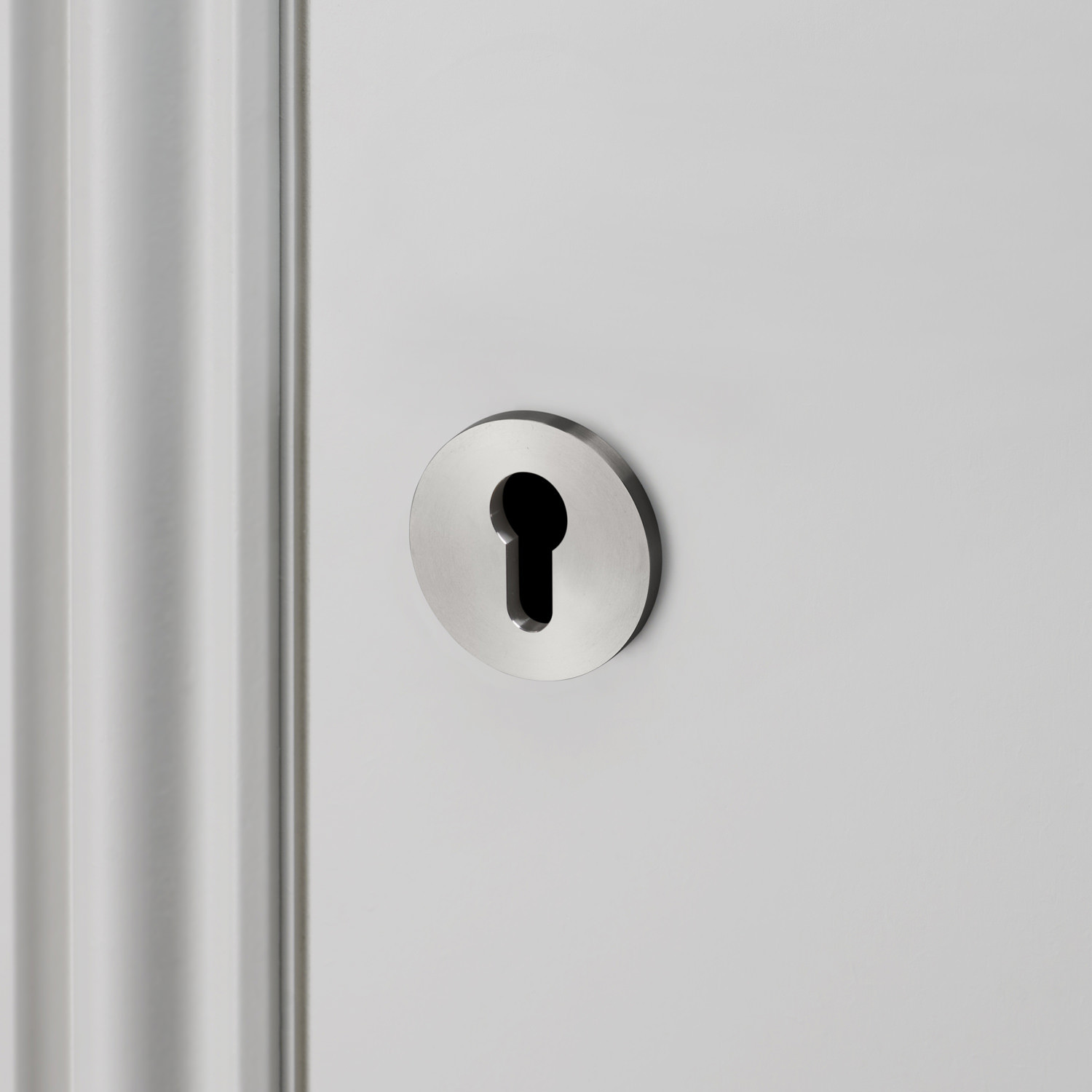 EURO CYLINDER KEY ESCUTCHEON / STEEL