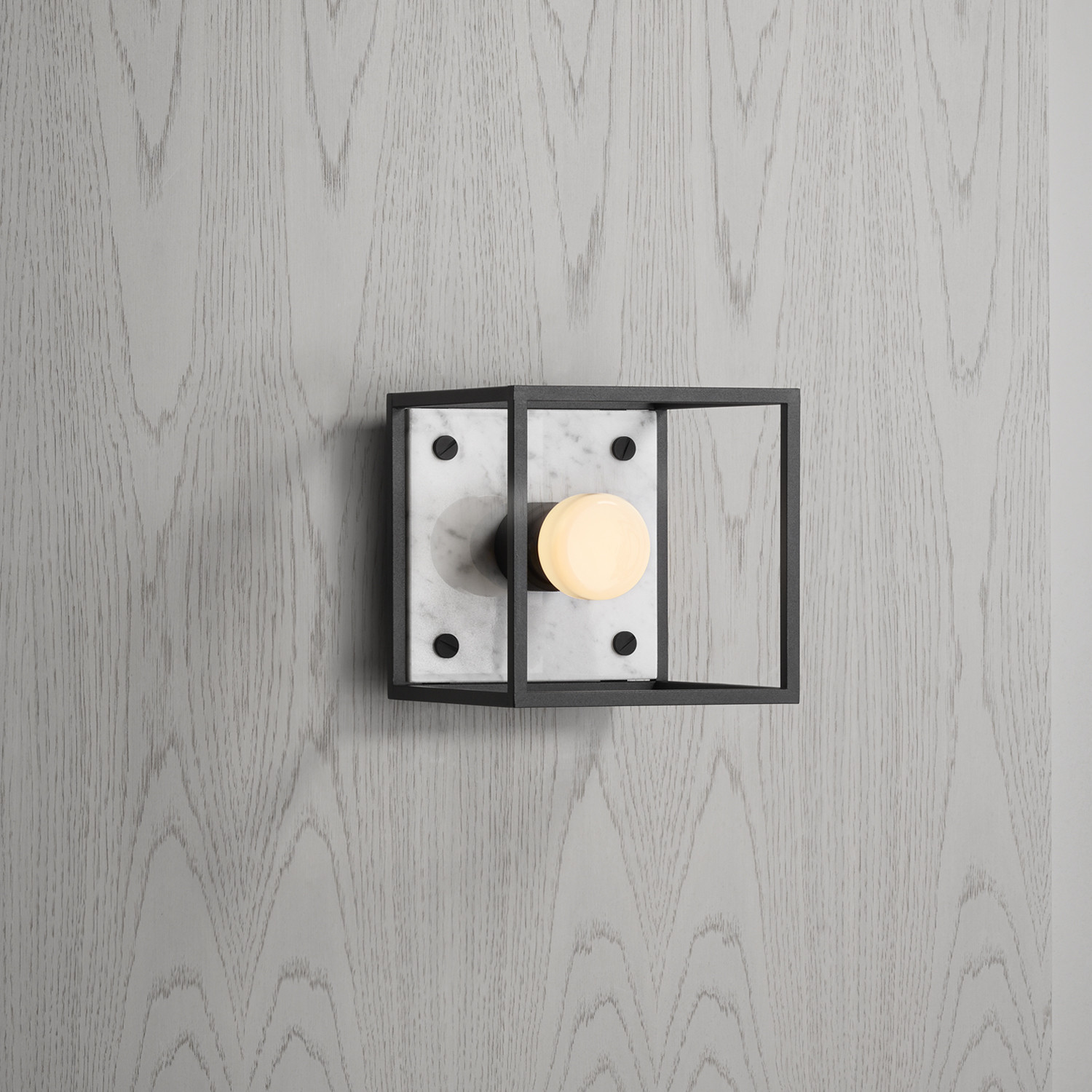 Buster + Punch / CAGED wall light made from solid metal and marble stone