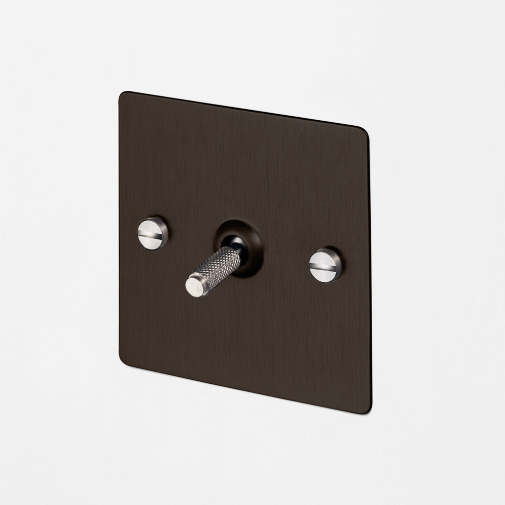 1G INTERMEDIATE TOGGLE SWITCH / SMOKED BRONZE / STEEL
