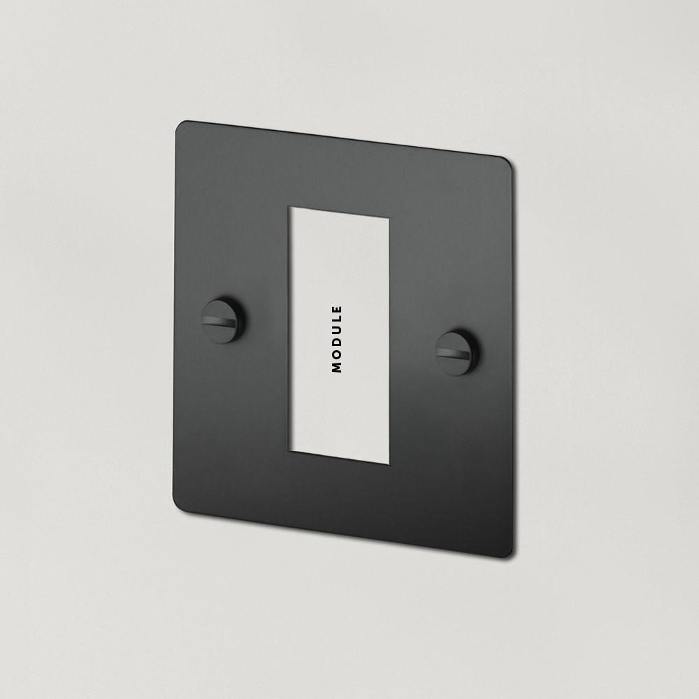1G EURO PLATE - 1 MOD / BLACK