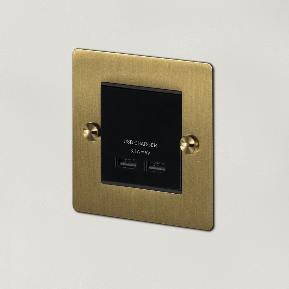 1G USB CHARGER / BRASS