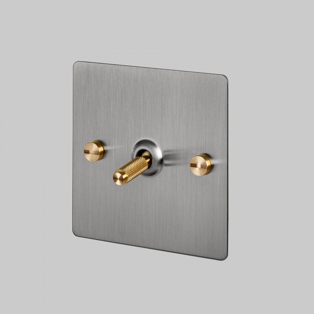 1G TOGGLE SWITCH / STEEL / BRASS