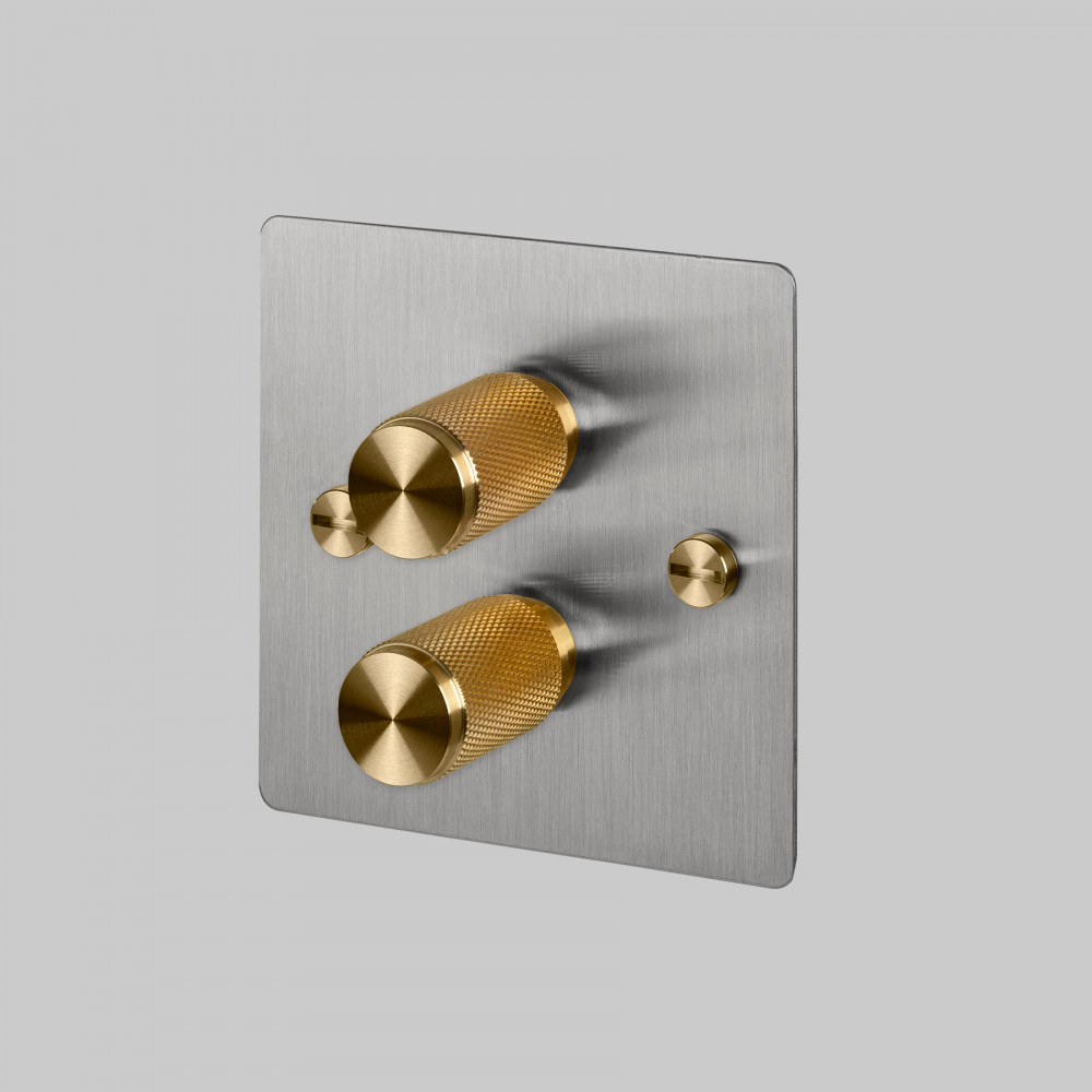 2G DIMMER / STEEL / BRASS
