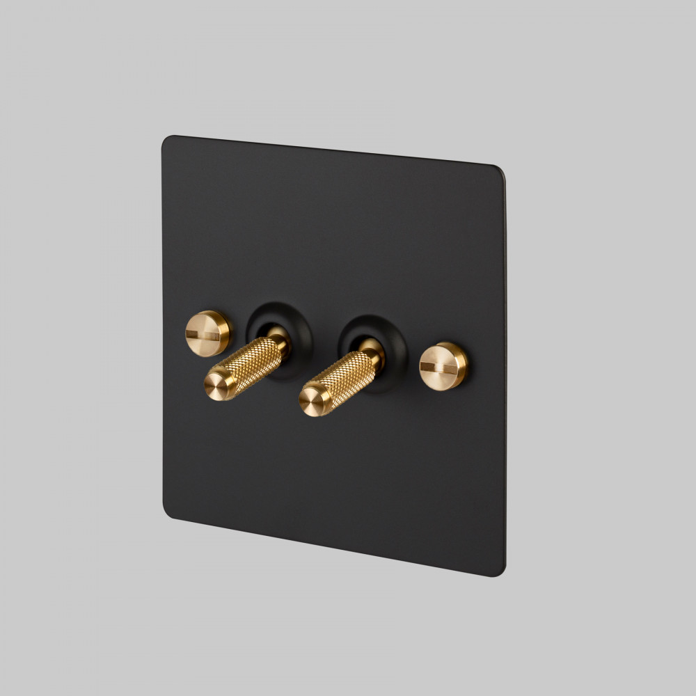 2G TOGGLE SWITCH / BLACK / BRASS