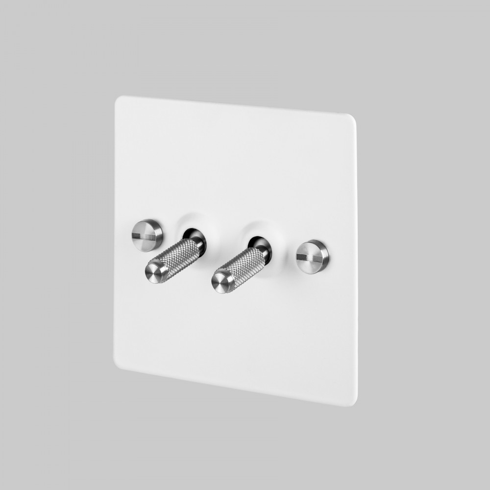 2G TOGGLE SWITCH / WHITE / STEEL
