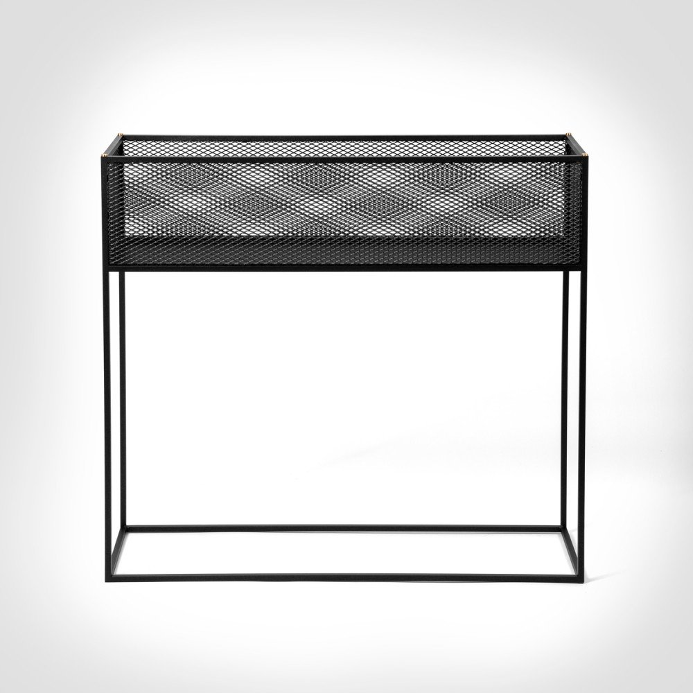 Buster + Punch / MESHED / Planter / Black metal mesh furniture