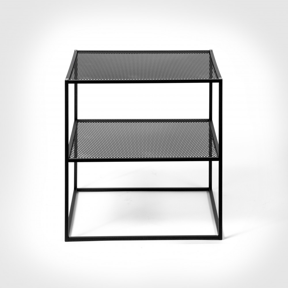 Buster + Punch / MESHED / Side Table / Black metal mesh furniture