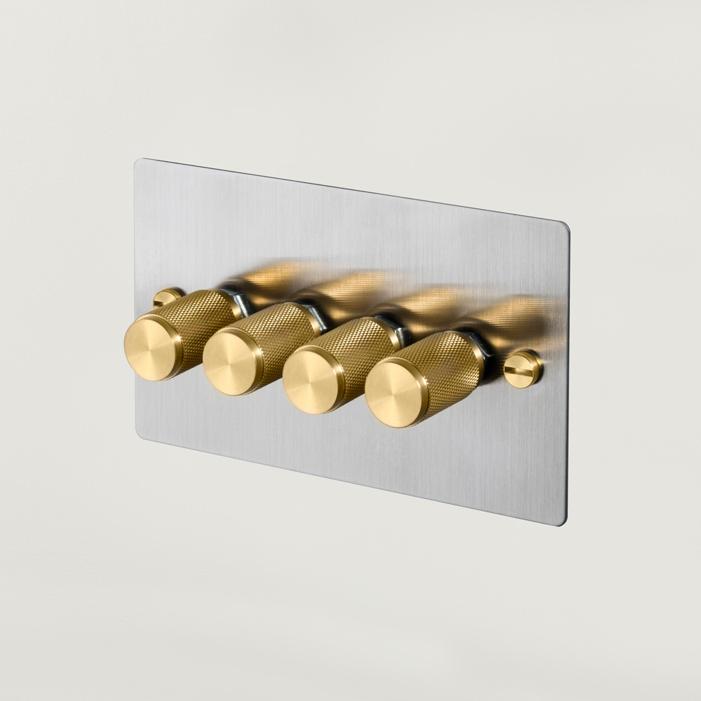 4G DIMMER / STEEL / BRASS