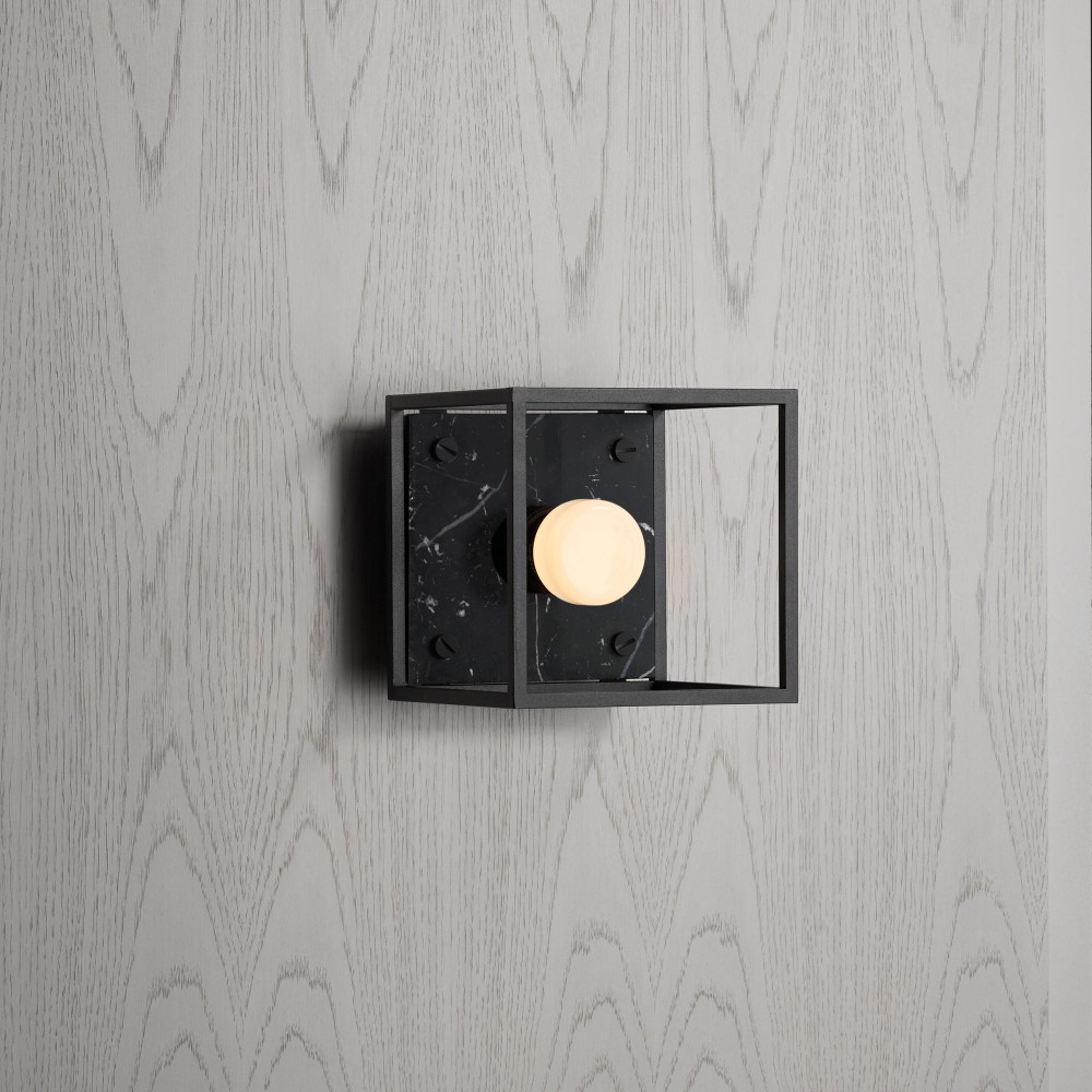 Buster + Punch / Caged wall light / Satin black marble