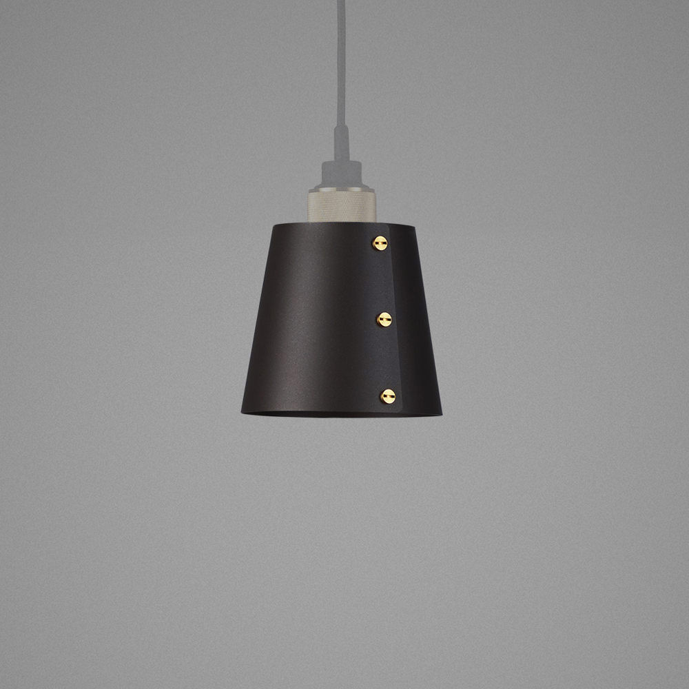 Light Shade Graphite Hooked Ceiling Pendant Solid Metal