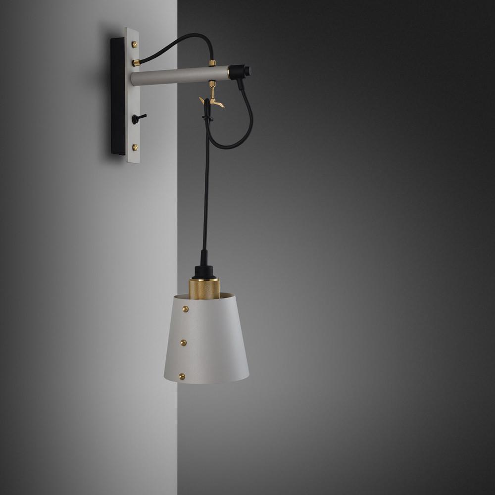 small lighting. HOOKED WALL SMALL STONE BRASS Small Lighting E