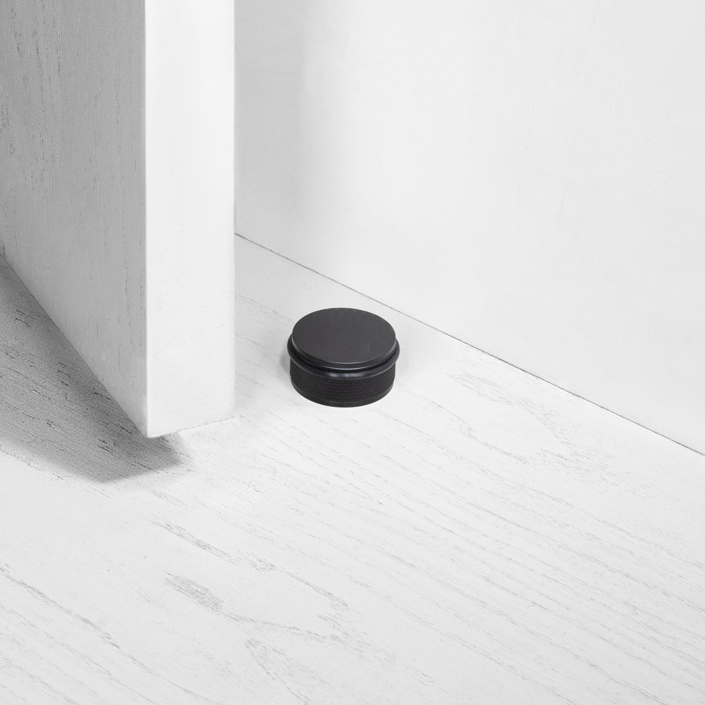 DOOR STOP / FLOOR / BLACK