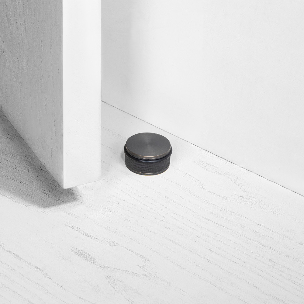 DOOR STOP / FLOOR / SMOKED BRONZE
