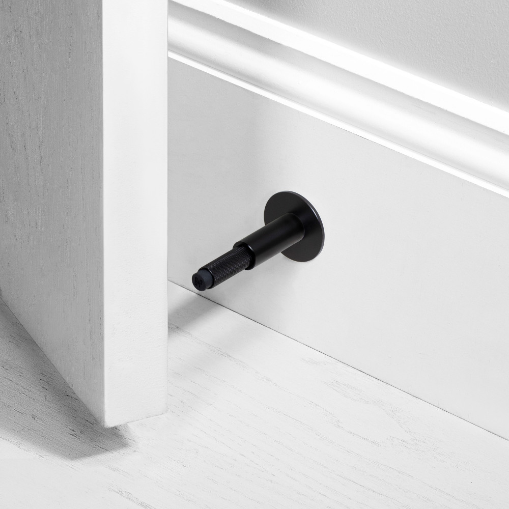 DOOR STOP / WALL / BLACK